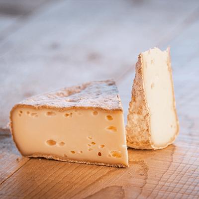 Morceaux de fromage tomme fermière